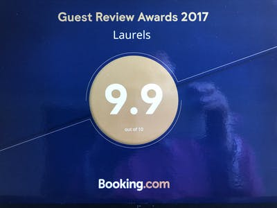 An award from Booking .com 9.9 out of 10. An exceptional result.