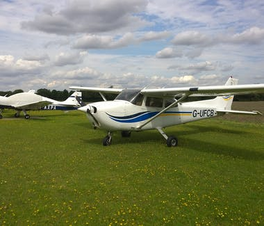 Light Aircraft at Rayne Hall Farm Airfield