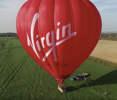 Fancy a balloon ride. Virgin Ballon rides are only a few miles from us