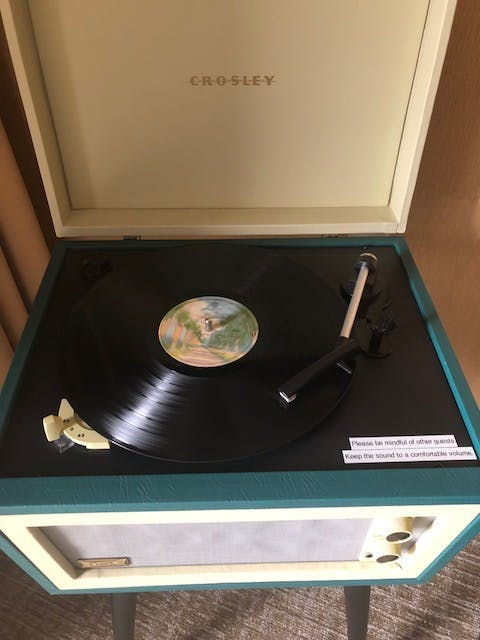Vinyl record player in Deluxe Rooms