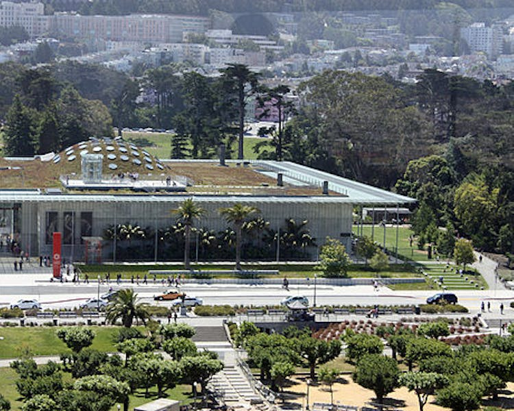 California Academy of Sciences at the Golden Gate Park, public transportation available from The Dylan Hotel