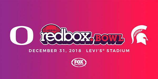 Redbox Matchup - Oregon vs Michigan. Levi's Stadium. December 31,2018.
