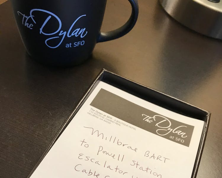 The Dylan Hotel at SFO - Notepad