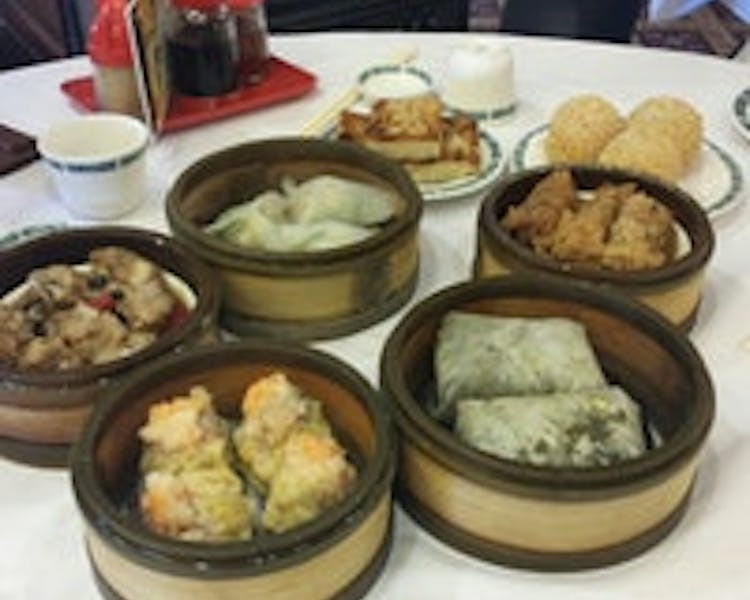 Dim Sum at the Hong Kong Flower Lounge. Across the street from The Dylan Hotel at SFO