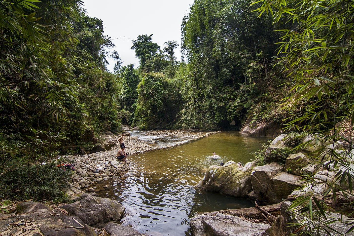 Enjoy the nature with the rainforest ambience at Gepai Falls nearby TheCedar@Bidor