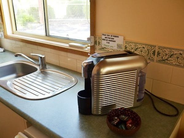 Coffee machines in all cottages