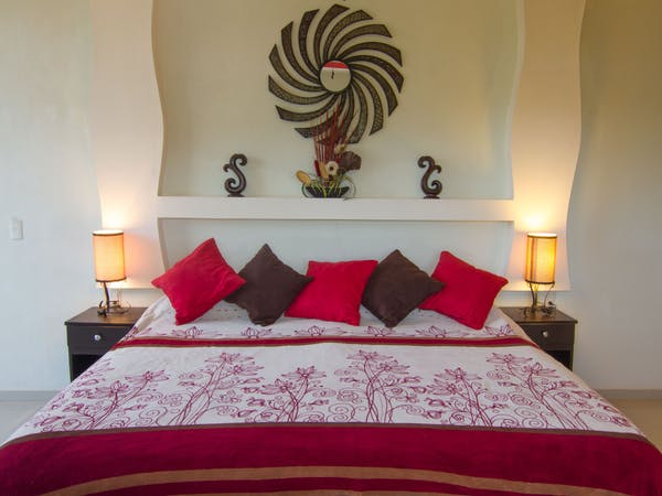 Relax in style in the master suite in the 3 bedroom villa