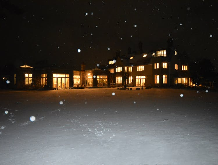 Haven Hall Hotel snowy night