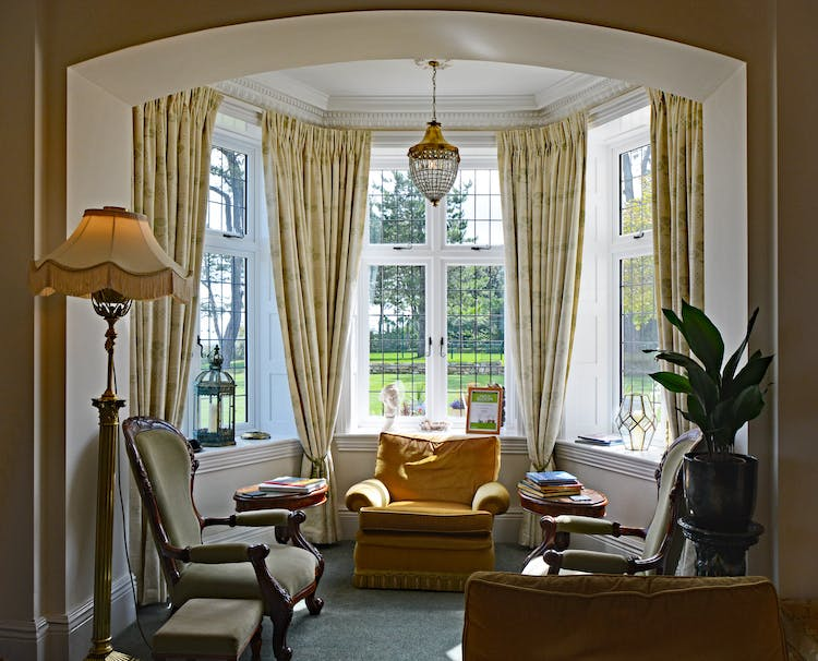 Haven Hall Hotel Large Bay in Drawing room