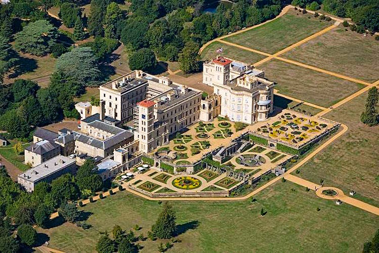 Haven Hall Hotel Osborne House aerial view