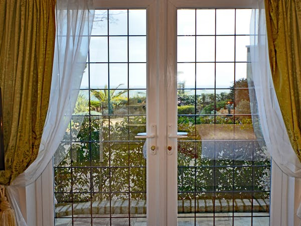 Haven Hall Hotel Sea View 1 Bedroom French Window view
