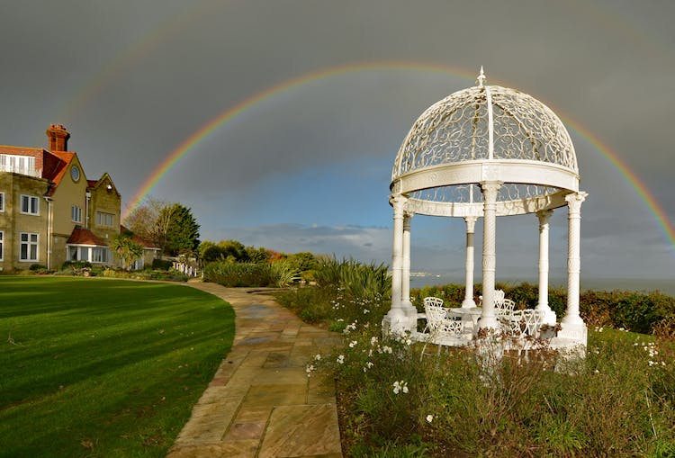 Haven Hall Hotel Rainbow over the Gazebo