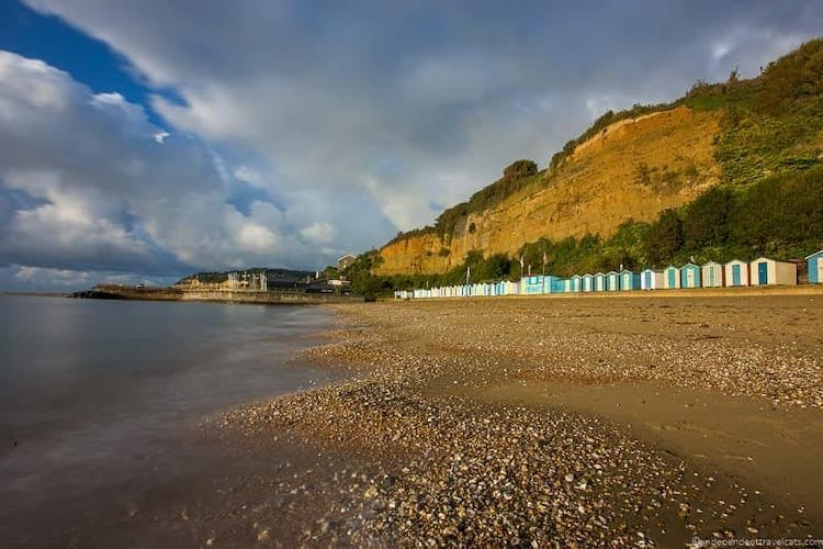 Haven Hall Hotel view of Small Hope Beach, Shanklin