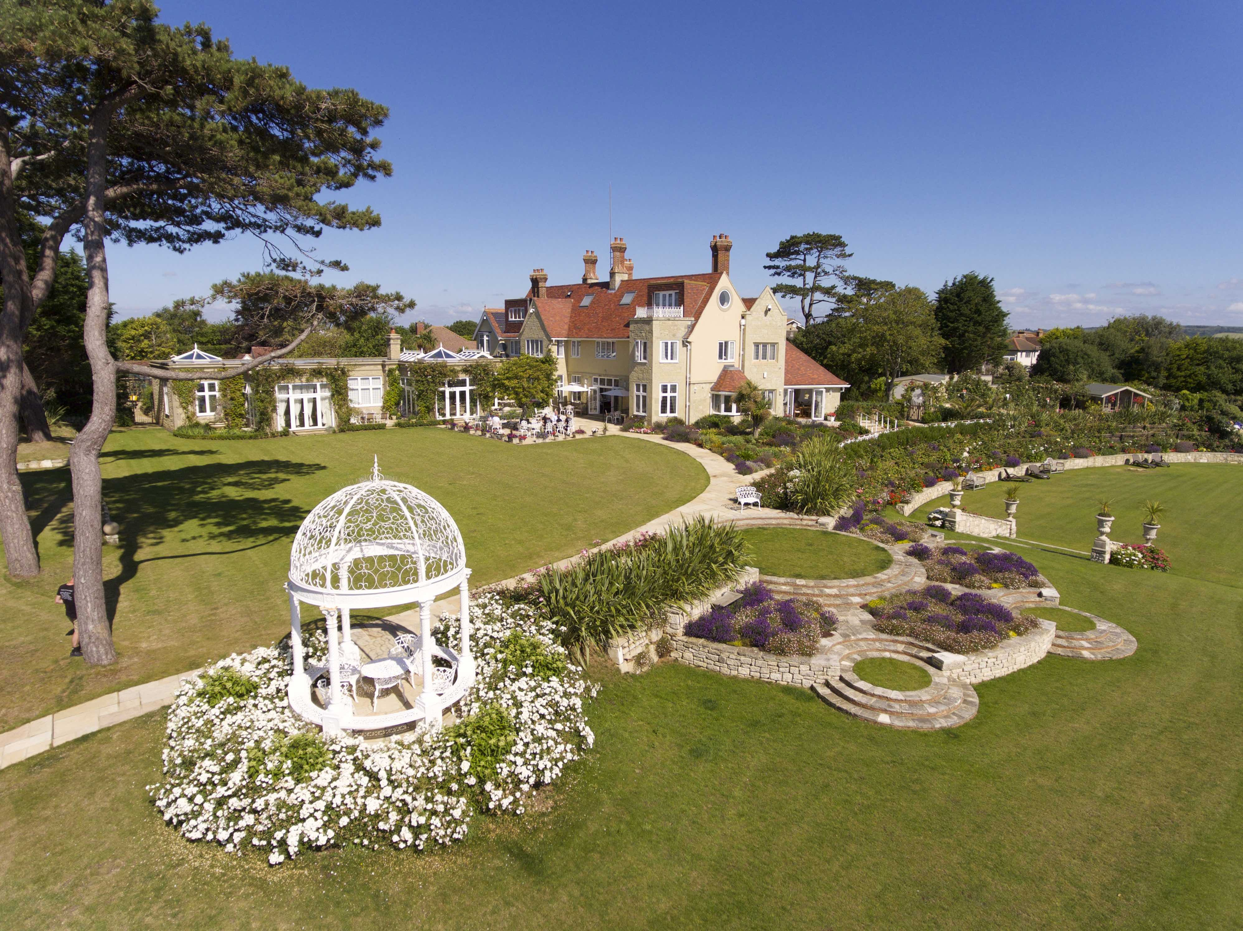 Haven Hall Hotel. Aerial photo of Gazebo and Hotel