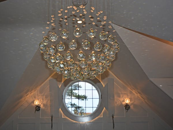 Haven Hall Hotel Sea View 3 Suite chandelier detail