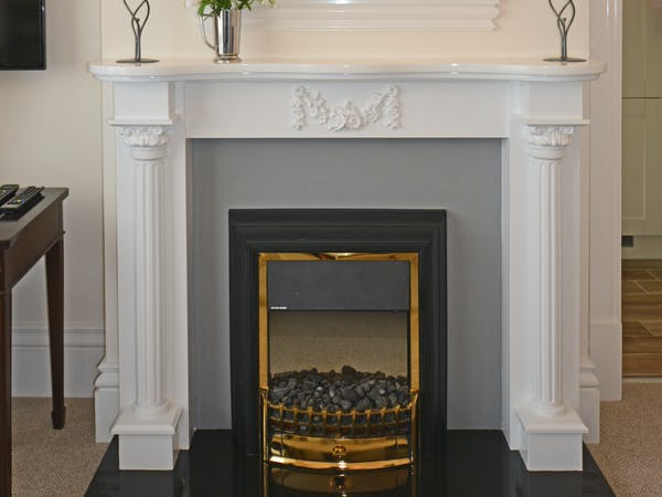 Haven Hall Hotel Garden Suite 3 fireplace