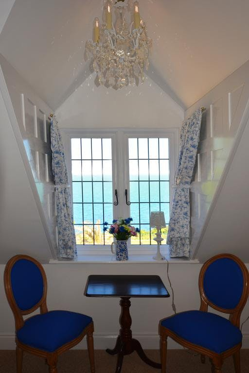Haven Hall Hotel. Seagulls Suite, sea view from window