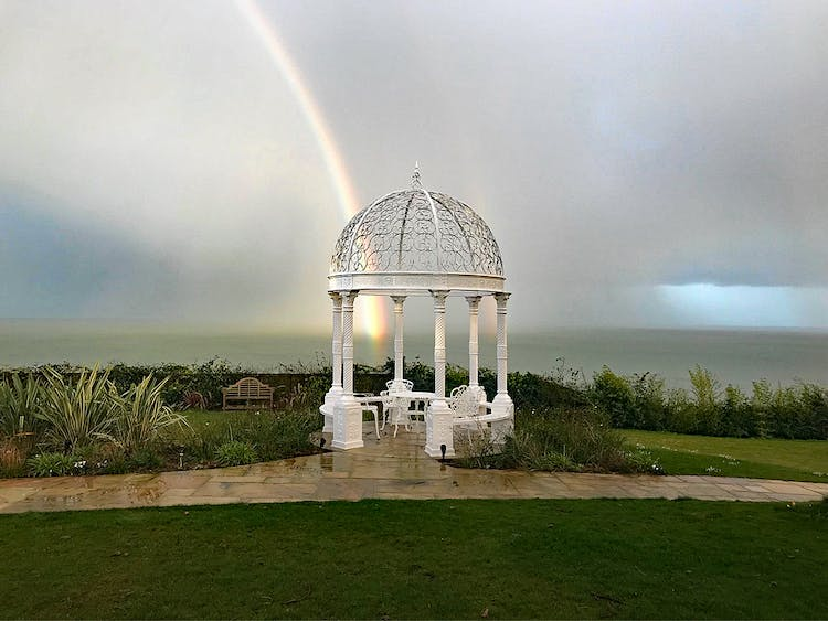 Haven Hall Hotel rainbow on the gazebo
