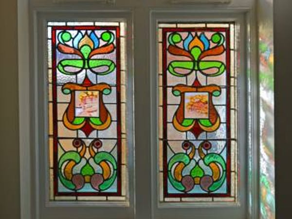 Haven Hall Hotel Garden Suites Front door stained glass