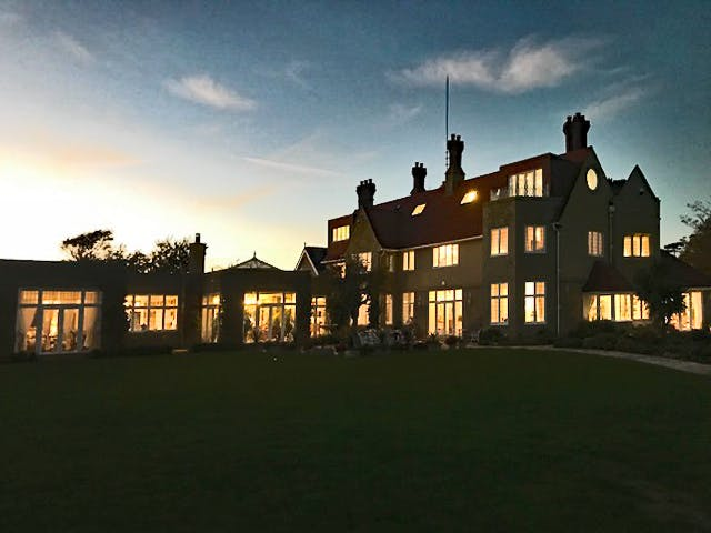 Haven Hall Hotel at dusk