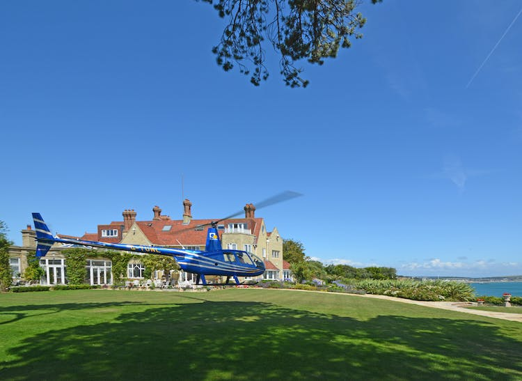 Haven Hall Hotel helicopter landing