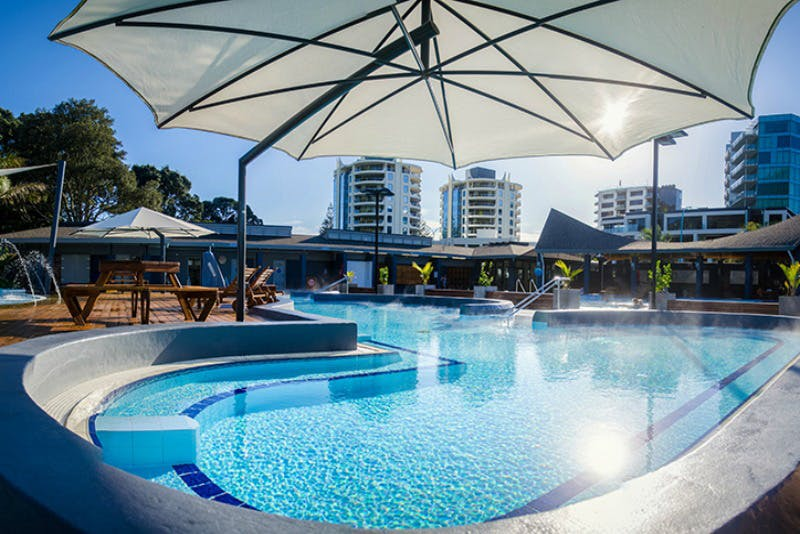 Guest only special at the local Mount Hot Pools, take your room key for a reduced price!