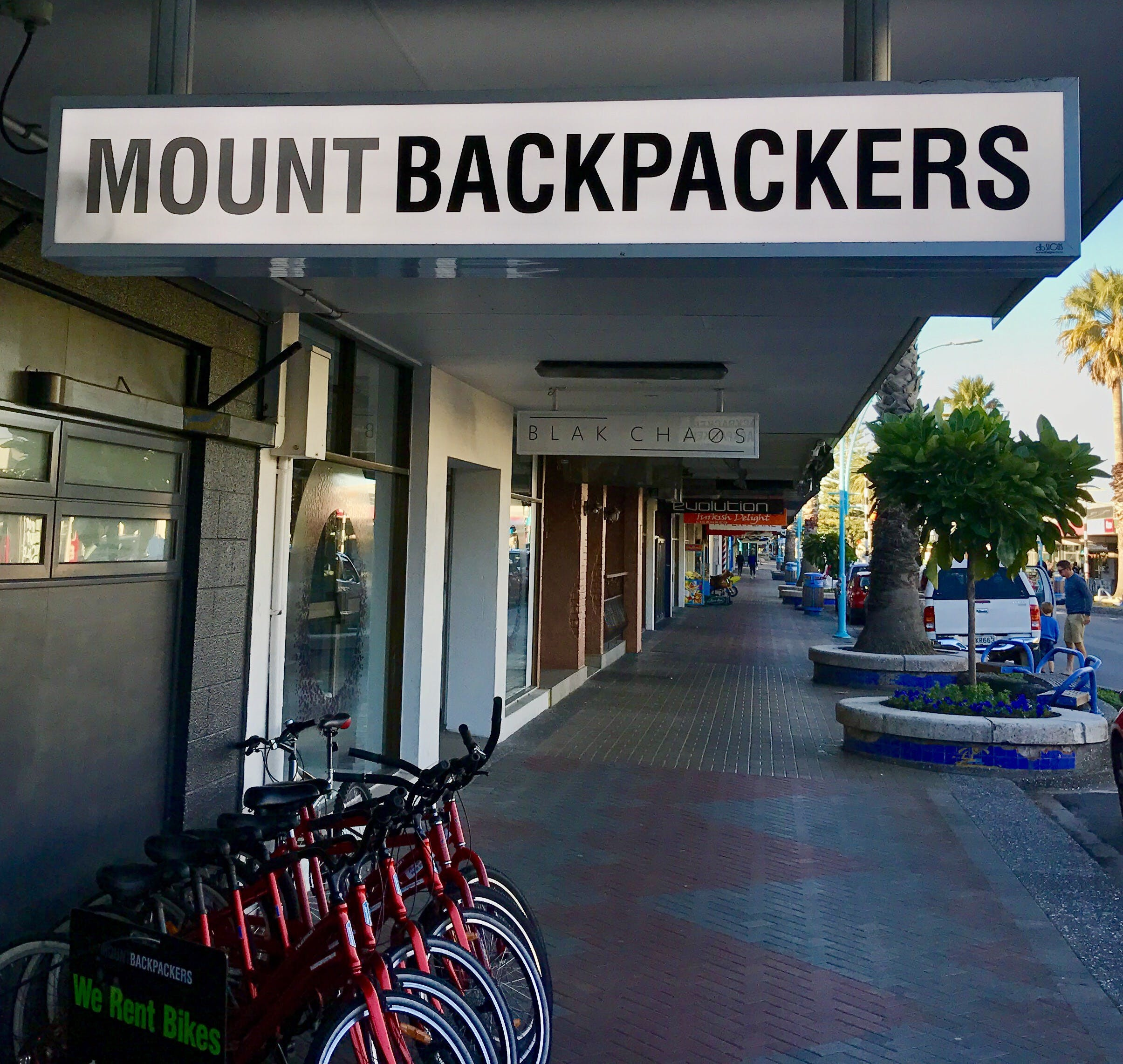 High street downtown Mount Maungui - right in the heart of the action