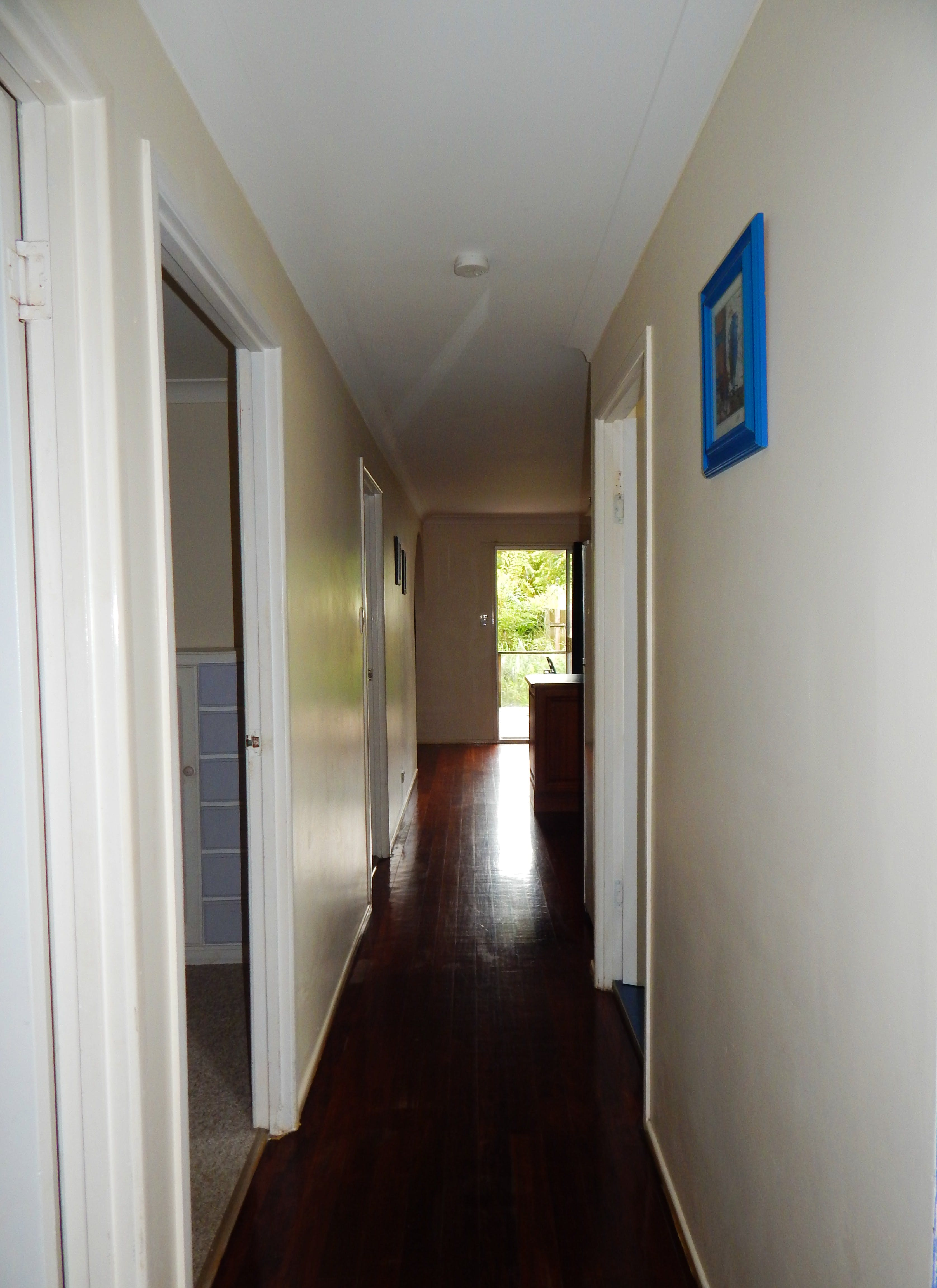 Hallway looking to deck
