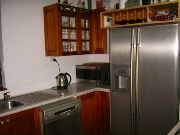 Self contained kitchen.