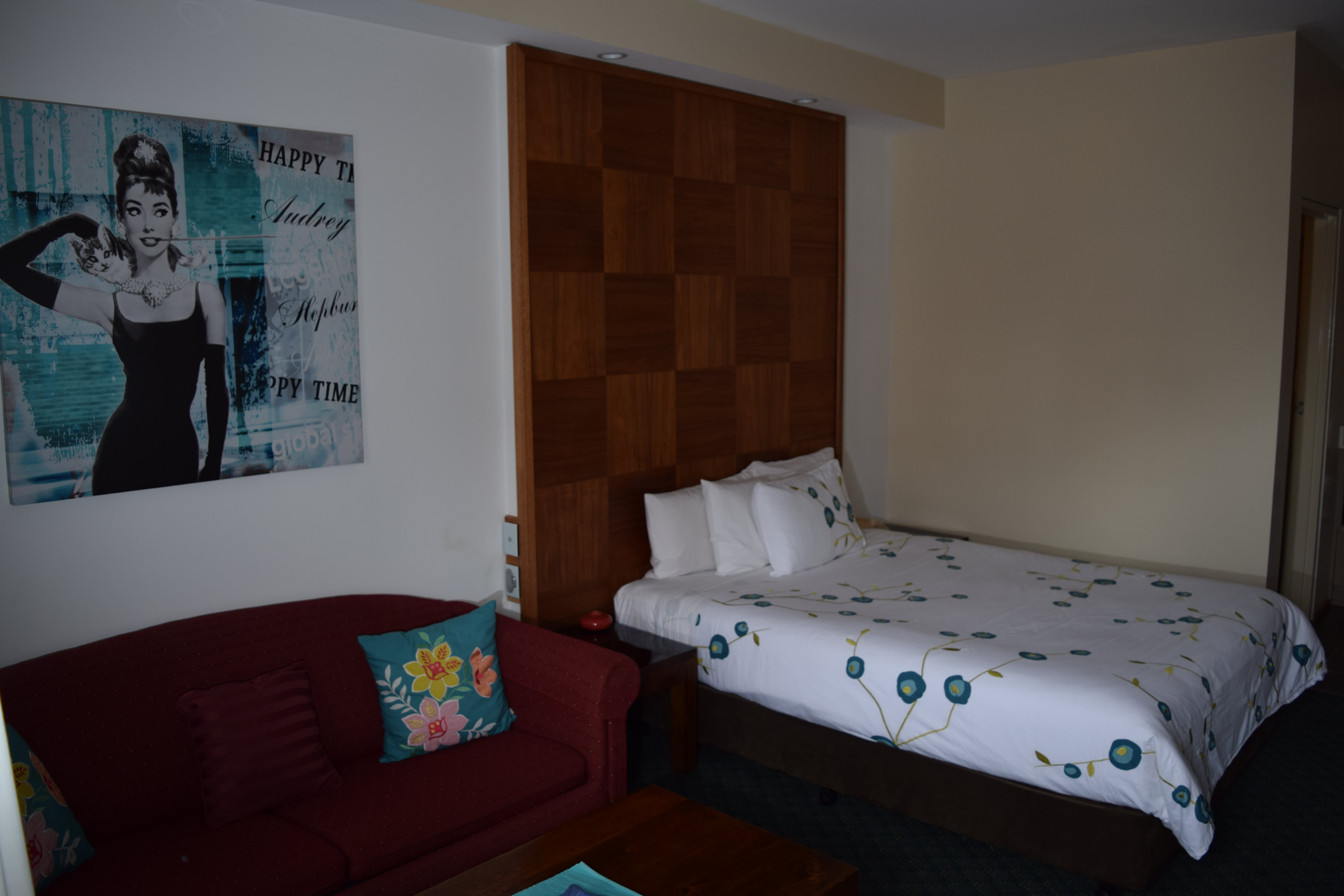 Executive Queen Double Executive room includes lounge and kitchenette. Executive Twin rooms have single bed and Queen bed.