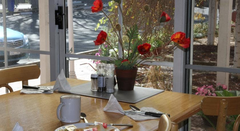 A beautiful sunny breakfast room to relax and read the paper of breakfast on the Go.