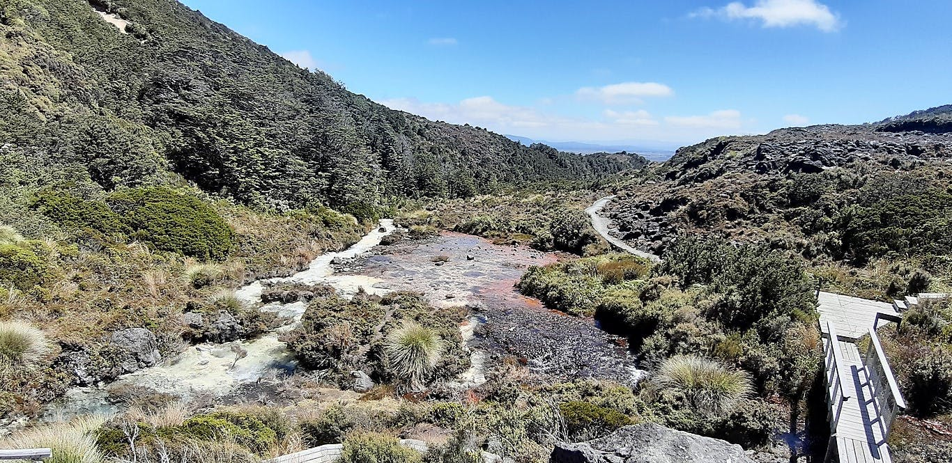 Silica Rapids on Mt Ruapehu, Tongariro National Park