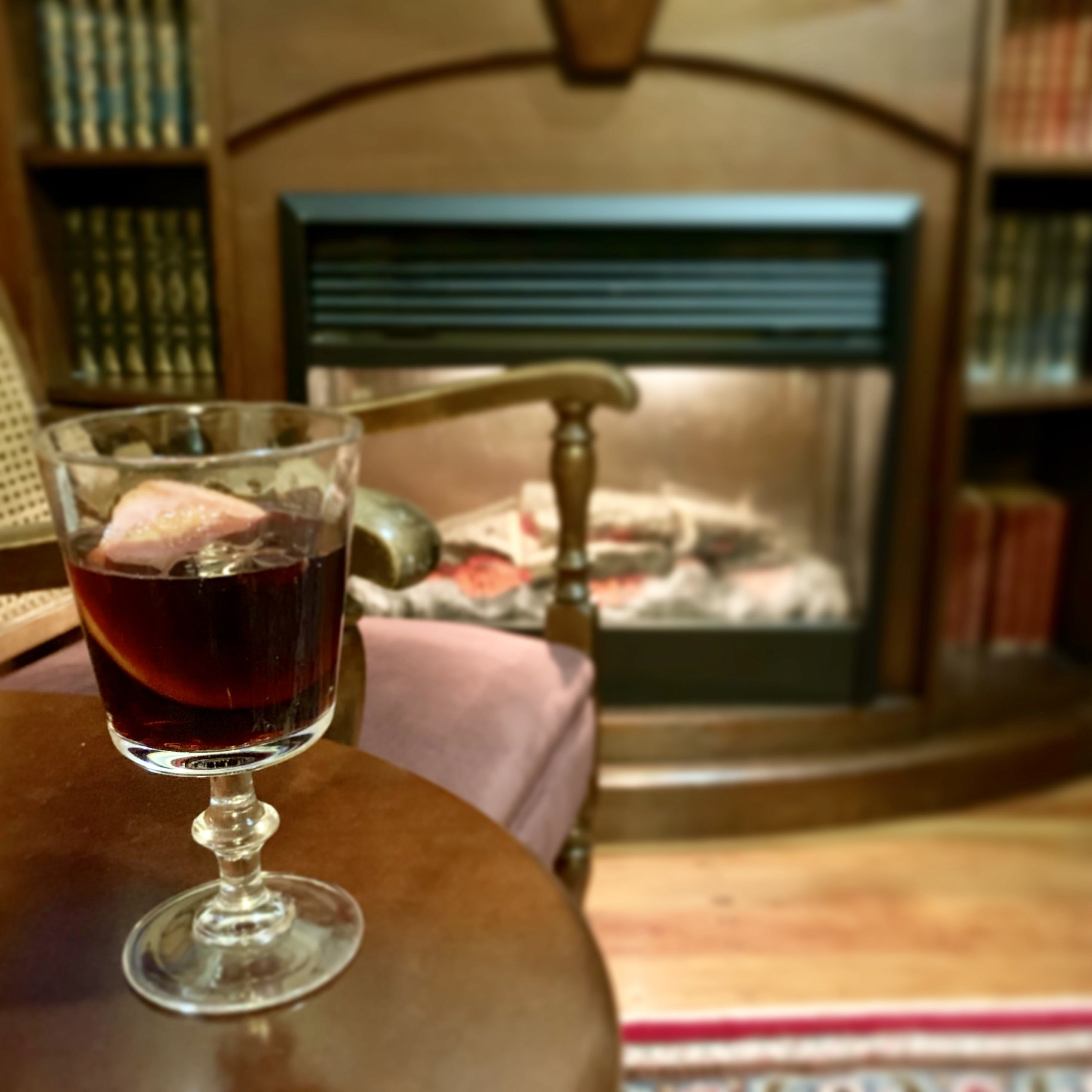 Enjoy a mulled wine in the warm Tongariro Crossing Lodge guest lounge