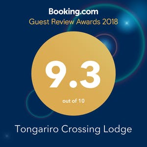 Guest review award from booking.com for 2018 with 9.3 rating