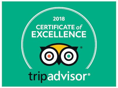 2018 certificate of excellence from TripAdvisor - Tongariro Crossing Lodge