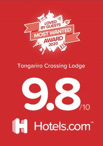 Tongariro Crossing Lodge received a Most Wanted Award from Hotels.com in 2020.