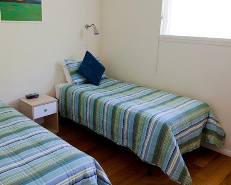 Portside two bedroom apartment second bedroom two long single beds