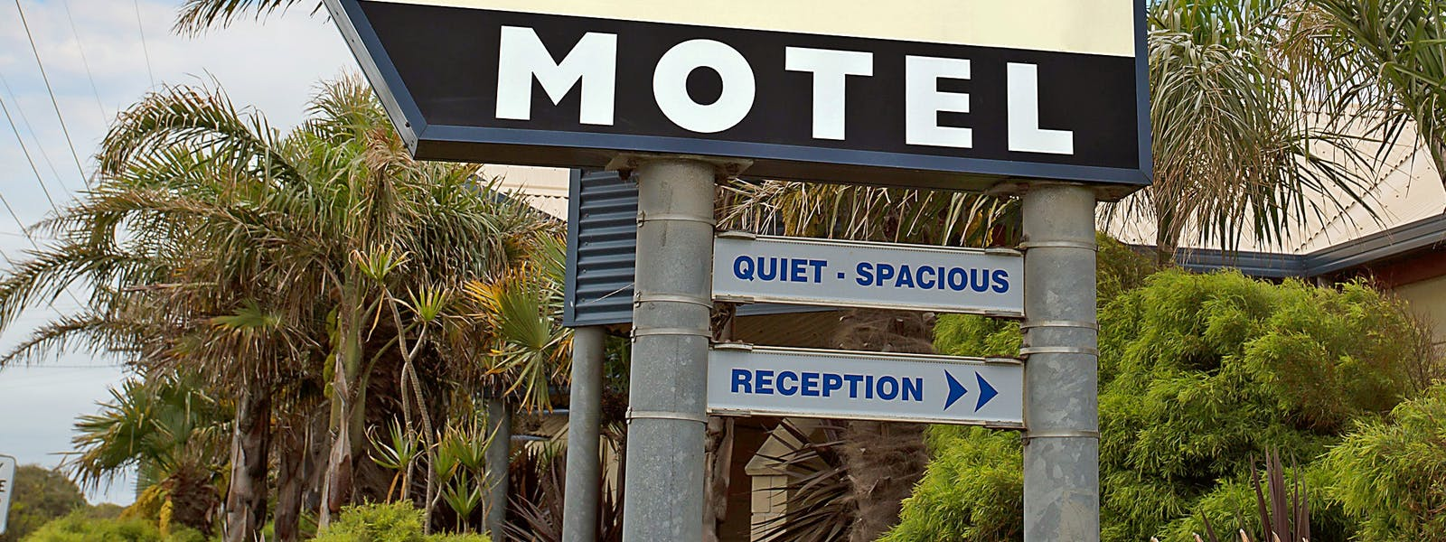 Portside Motel unique style design and sign