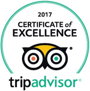 Trip Advisor Certificate of Excellence 2017 for Portside Motel