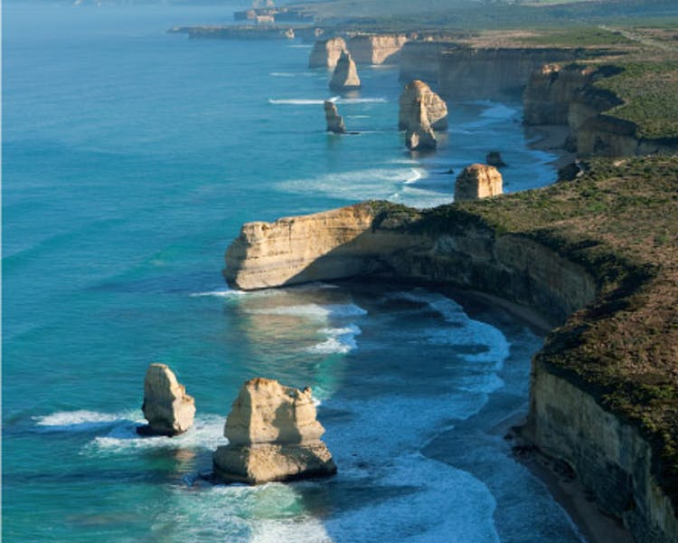 Port Campbell National Park aerial view of 12 Apostles