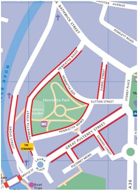 Parking permit map Zone 1