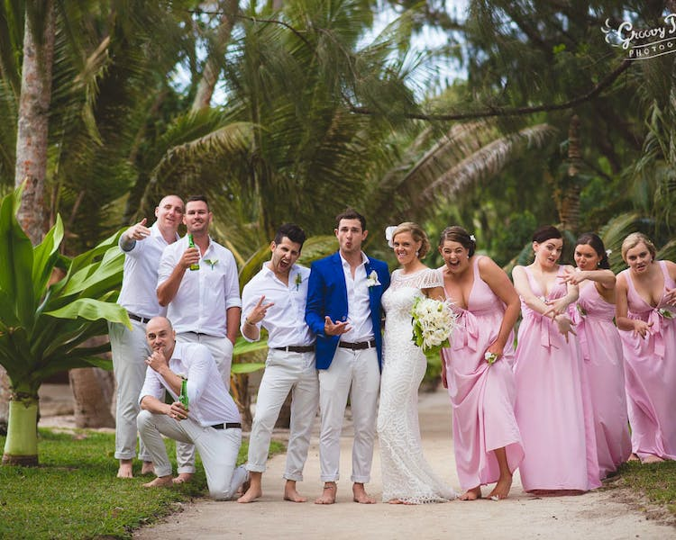 Wedding party Island Photo #erakorbeachweddings #weddingceremonyonthebeachsouthpacific #vanuatuislandweddings
