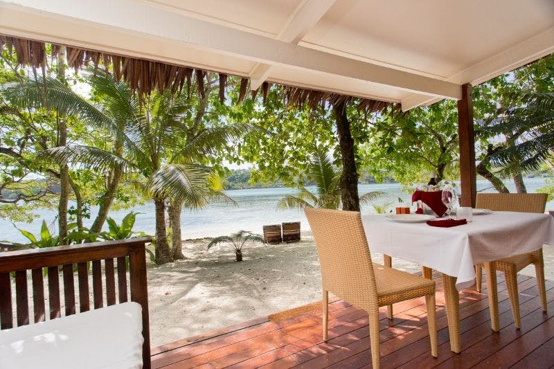 Beachfront Deluxe Spa Villa - Large balcony absolute beachfront erakor island resort & spa #erakorislandresort