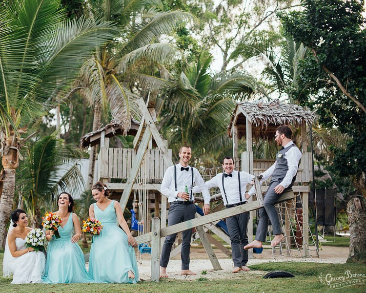 Erakor Islands Playground Wedding Photo #erakorbeachweddings #weddingceremonyonthebeachsouthpacific #vanuatuislandweddings