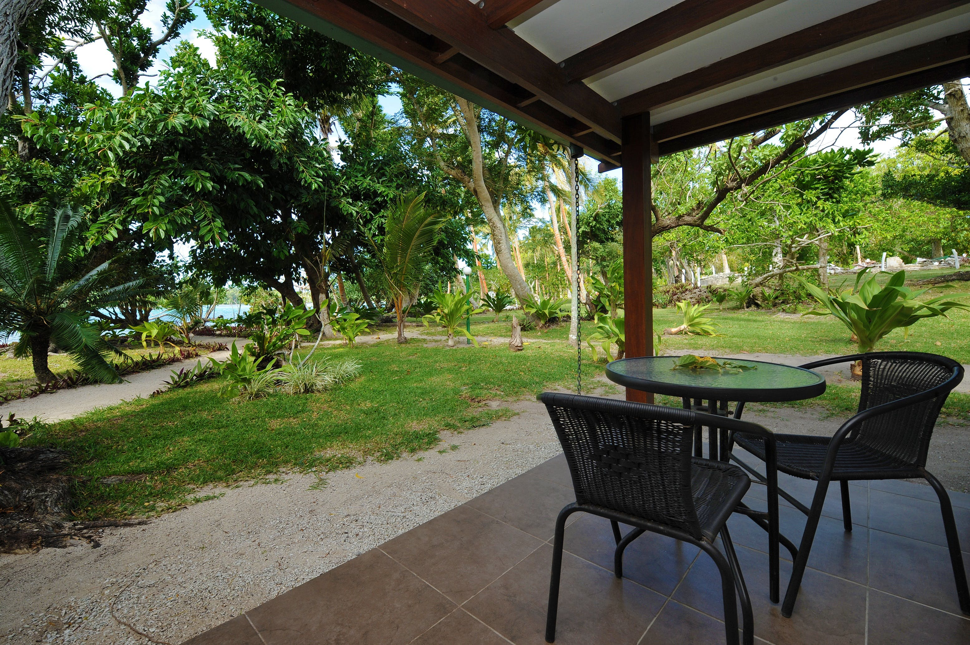 Garden Room - Outdoor deck Garden Rooms erakor island resort & spa #erakorislandresort #vanuatuholidays