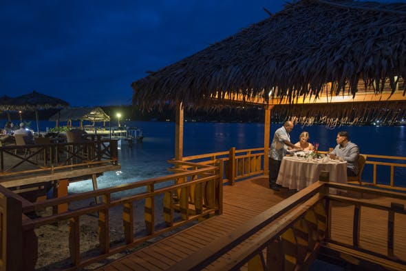 Aqua Overwater restaurant waterfront dining vanuatu #erakorislandresort #tropicalislandholiday #Vanuatuaccommodation