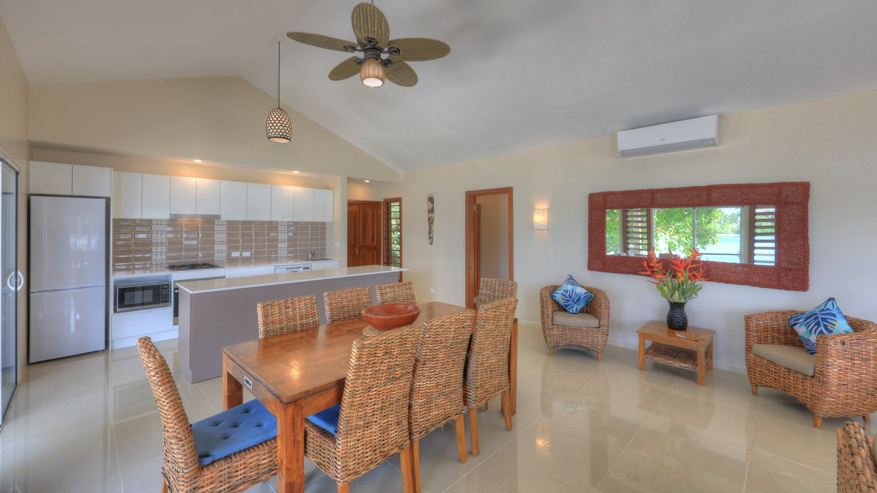 erakor island resort beach cottage dining room #erakorislandresort #tropicalislandholiday erakor island resort beach cottage