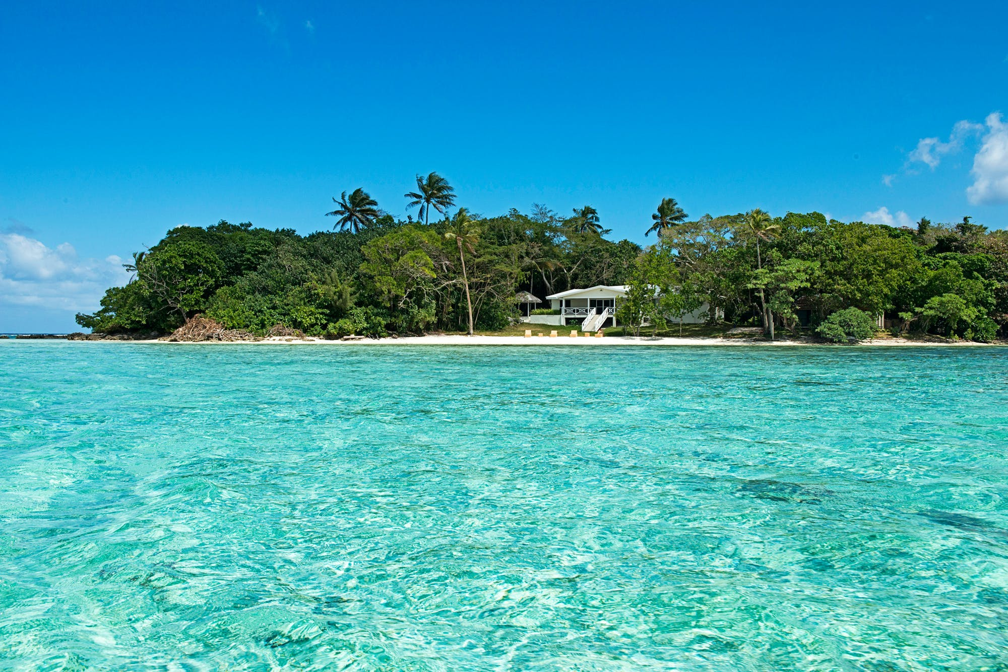 Crystal Blue Waters surrounding Erakor Island