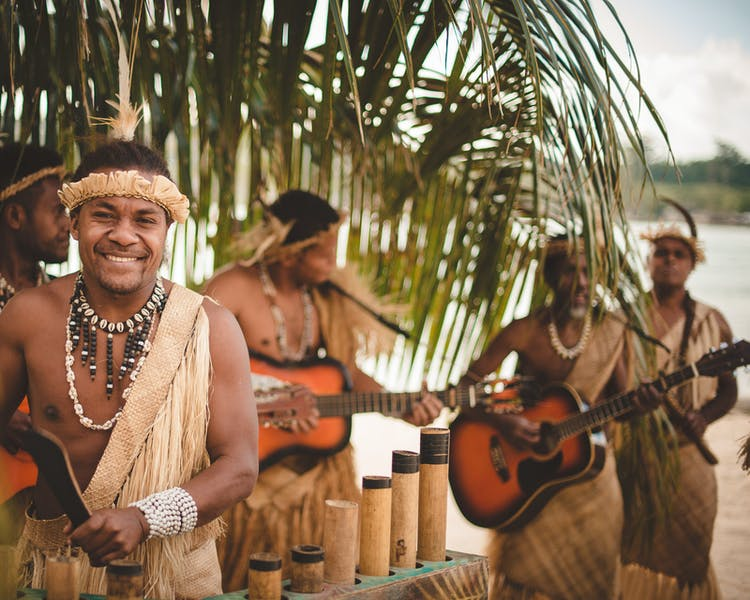 Melanesian Island String Band #erakorbeachweddings #weddingceremonyonthebeachsouthpacific #Vanuatutropicalbeachweddings