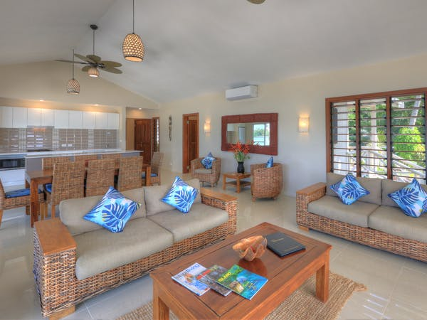 erakor island resort beach cottage lounge #erakorislandresort #tropicalislandholiday #Vanuatuaccommodation
